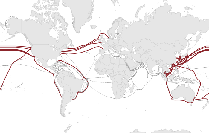 Map of Content Provider Submarine Cable Investments