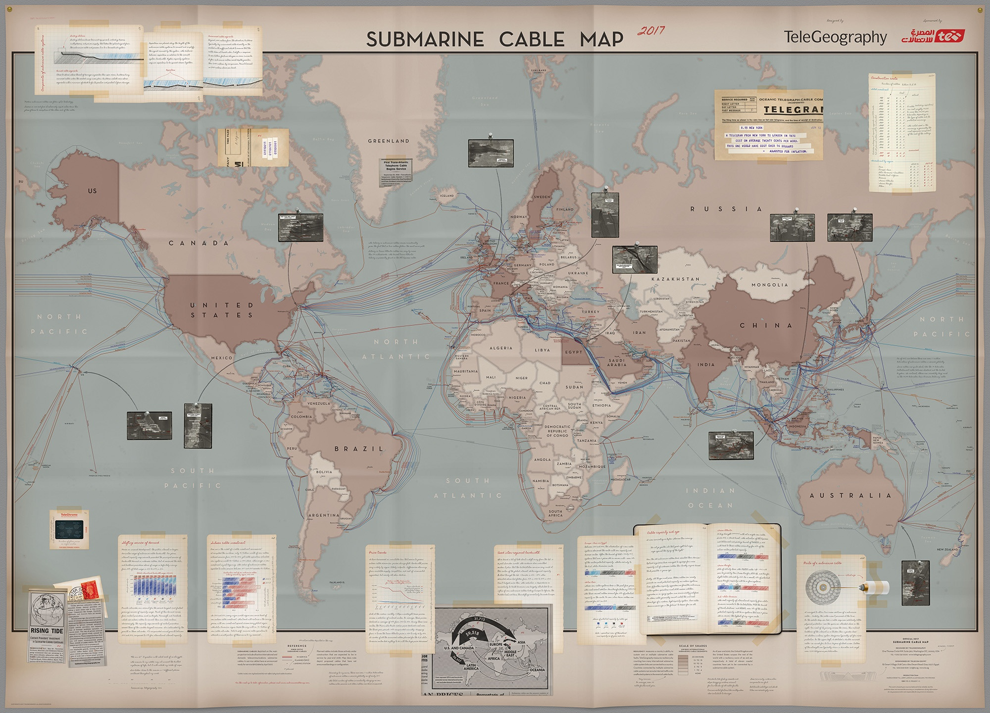 Mapping Cables Seeking Adventure The 2017 Submarine Cable Map Has Arrived