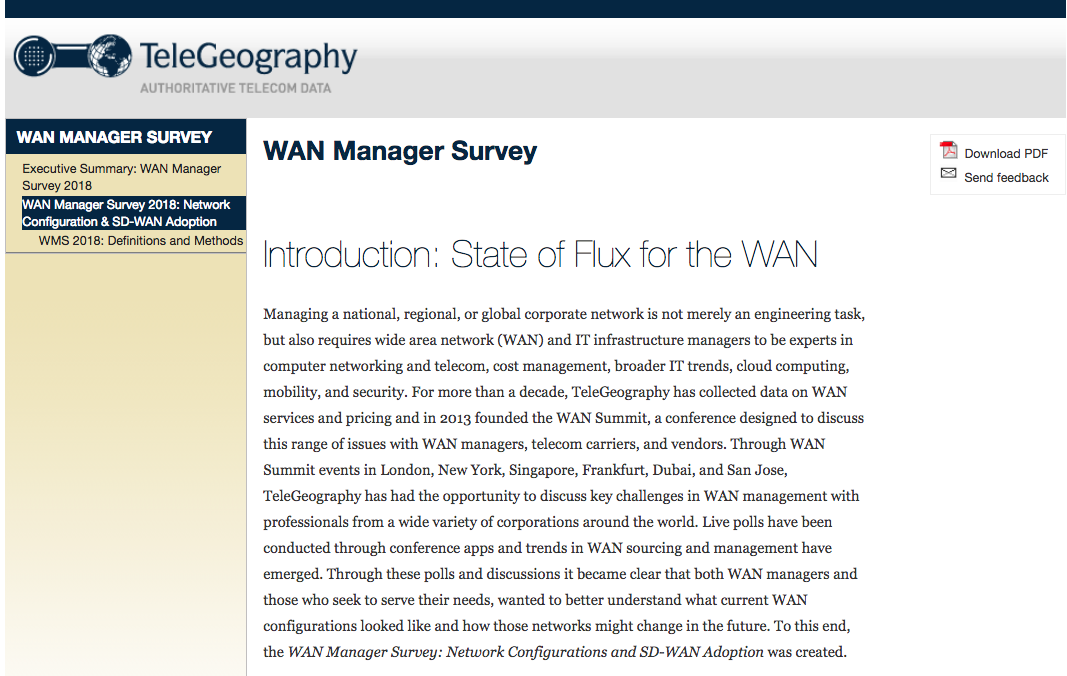 WAN Manager Survey